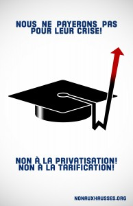 Hausse des tarifs Éducation
