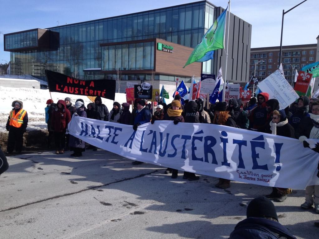 Manifestation unitaire à Lévis.